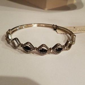 Judith Jack Sterling hematite black stone bracelet